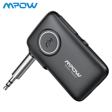 Newest MPOW Bluetooth5.0 Wireless Receiver with CSR Core Audio Adapter Hand-free calling Voice Navigation LED Light Car Kit