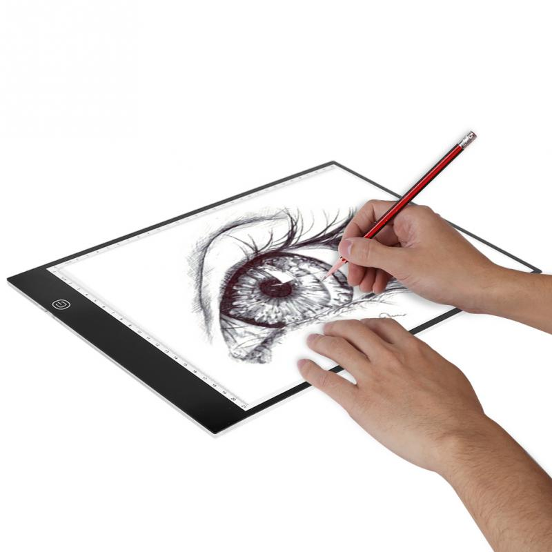 Painting Supplies Art Sets A4 Led Tracing Board Light Box Stencil Drawing Thin Pad Table For Tattoo Art Artist