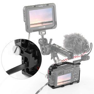 Image 5 - سمولتلاعب a6400 دسلر قفص لسوني A6300/ A6400 /A6500 شكل المجهزة هيكل قفصي الشكل للكاميرا مع 1/4 و 3/8 خيوط الثقوب 2310