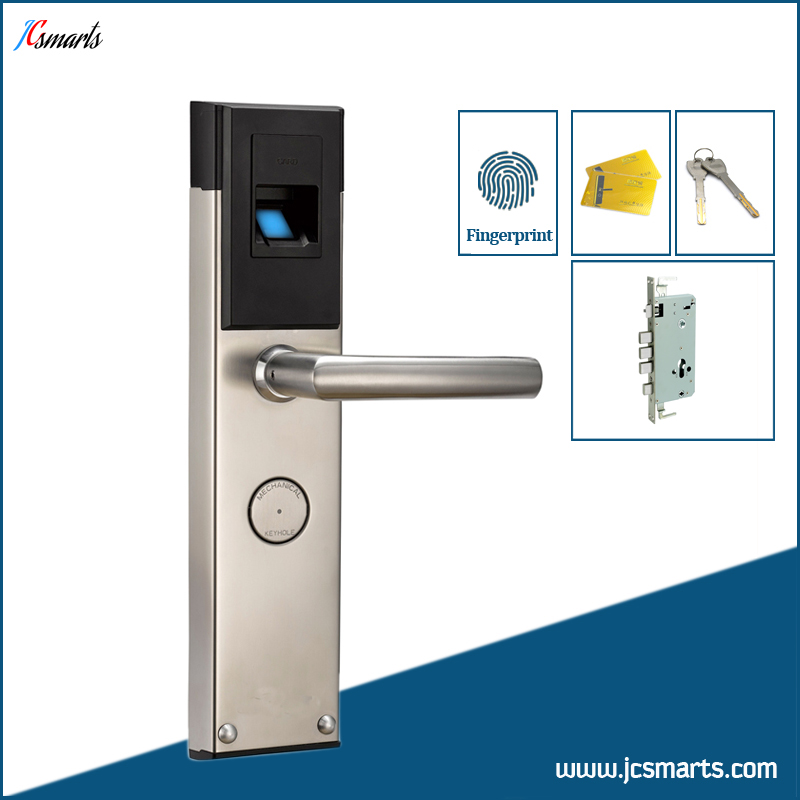 Office electronic keyless door lock fingerprint door entry for 1 touch fingerprint door lock