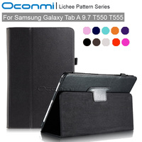PU Leather Smart Case For Samsung Galaxy Tab A 9 7 T550 T555 Slim Magnet Cover