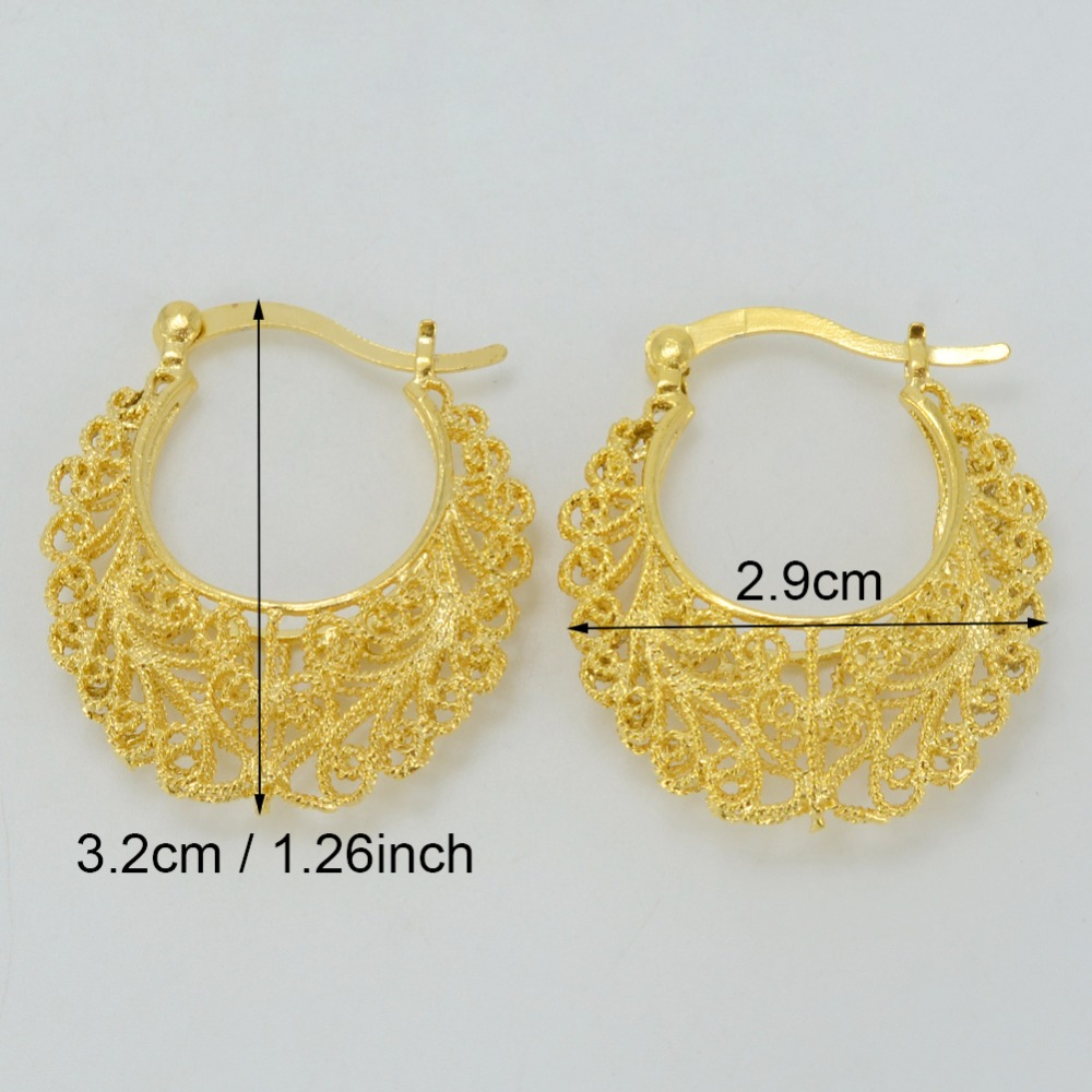 Anniyo 2.9CM Africa Earrings for Women Gold Color Stud Earrings ...