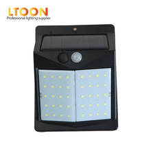 [LTOON]LED Solar Power PIR Motion Sensor Wall Light 40 LED Outdoor Waterproof Energy Saving Street Yard Path Home Garden Securit