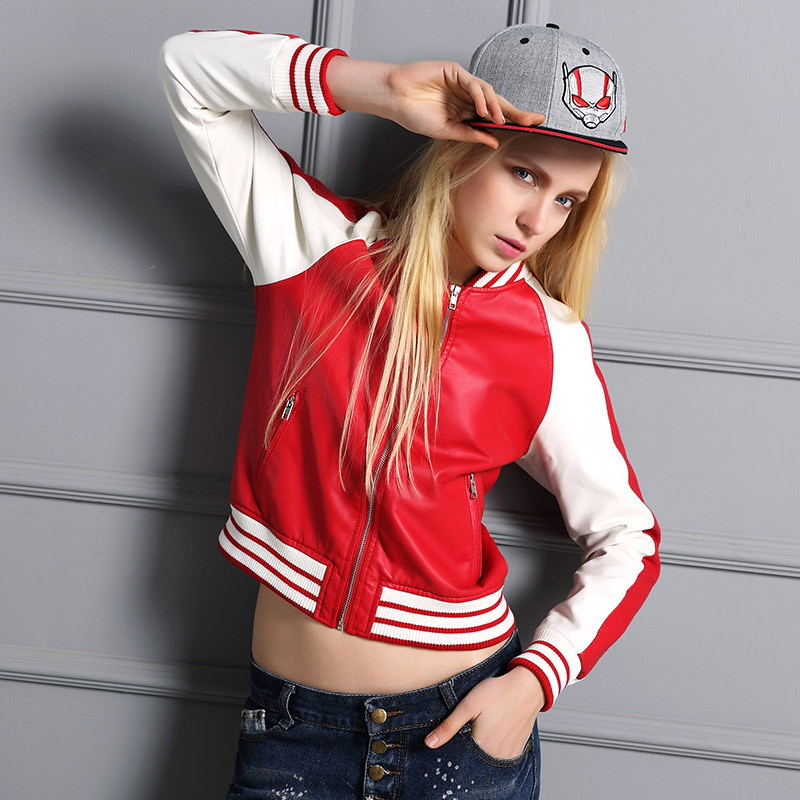 2018 New Spring Autumn Fashion Zipper Pockets Casual and Long Sleeves Coats Outerwear Baseball College Women Bomber   Basic     Jacket