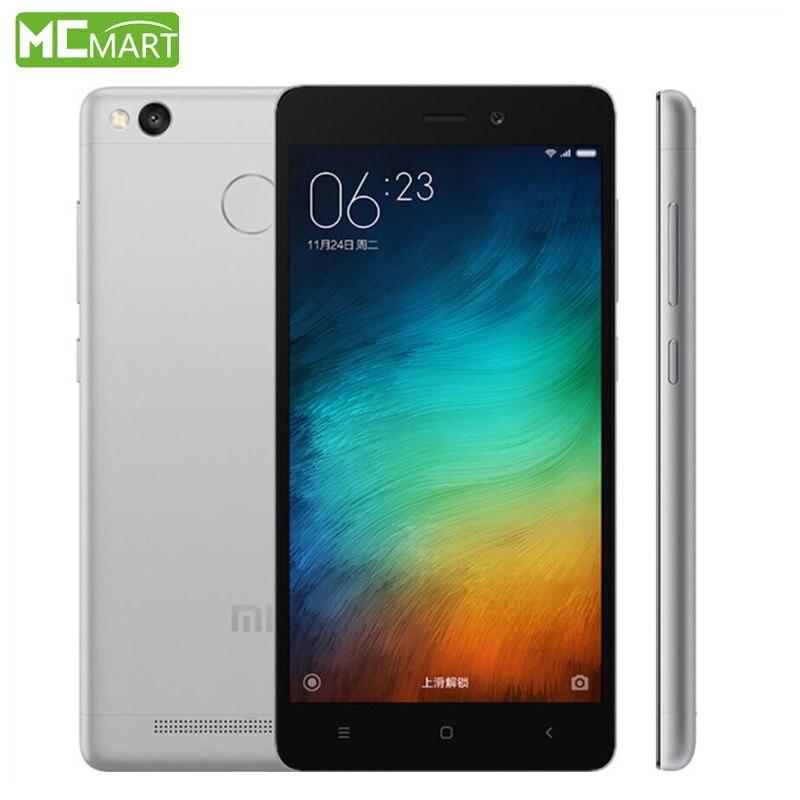 Xiaomi Redmi 3S  Pro Prime Redmi3s smartphone 3GB+32GB 4G FDD Smart Phone 5.0Inch phones Snapdragon 430 Fingerprint ID