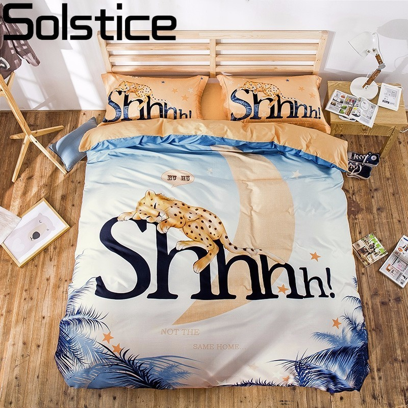 Solstice Digital Printing Style Cartoon Tiger Penguin Lion