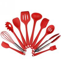 10Pcs Set Silicone Heat Resistant Kitchen Cooking Utensils Non Stick Baking Tool