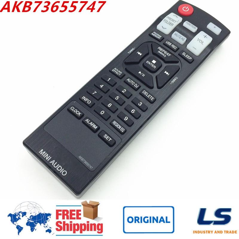 Mando a distancia original akb73655747 para lg cd hogar sistema de audio mini hi
