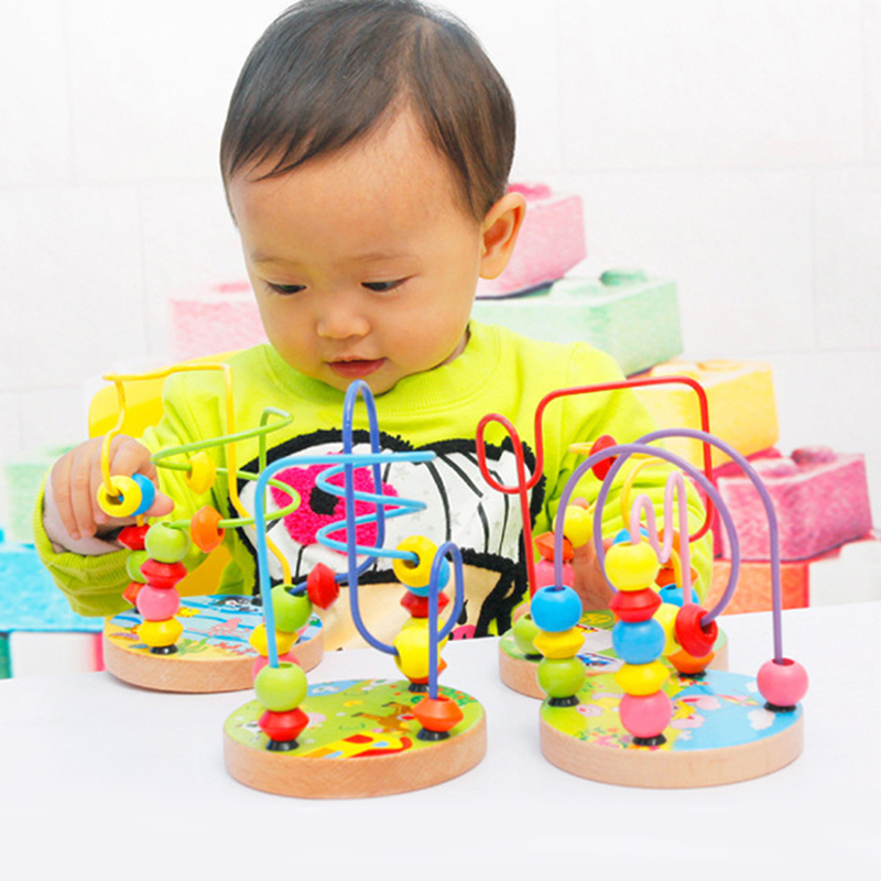 Early Kids Educational Children's Doll Beads String Of Game Baby Count Wear Beads Toys Mini Animal Chassis Toys For Children