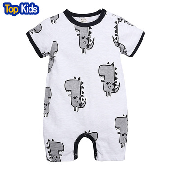 2019 Cartoon Cotton Romper Summer Newborn Kids Baby Girl Boy cute dinosaur Rompers Jumpsuit Clothes Outfits New 0-2 year MBR261 1