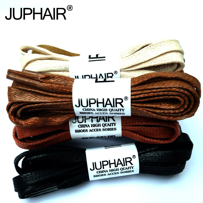 JUP 3 Pair Flat Waxed Colored Shoelaces Unisex  100% Cotton Flat Shoestring Leather Boot Laces Martin Boots Sneakers Shoes Laces jup 50 pairs round laces 60 180cm casual leather high quality waxed shoelaces boot sport cable rope oxford sneaker unisex string