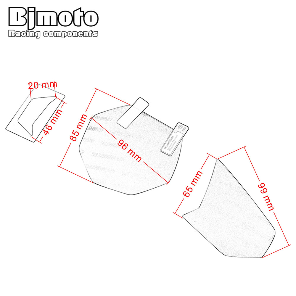 2pcs For Yamaha YZF R3 MT03 2015-2017 Motorcycle Cluster Scratch Protection Instrument Speedometer Film Screen Protector Sticker