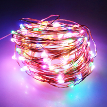 10M 100leds copper wire Led String light 10 colors DC12V festival Christmas party decor indoor outdoor use IM
