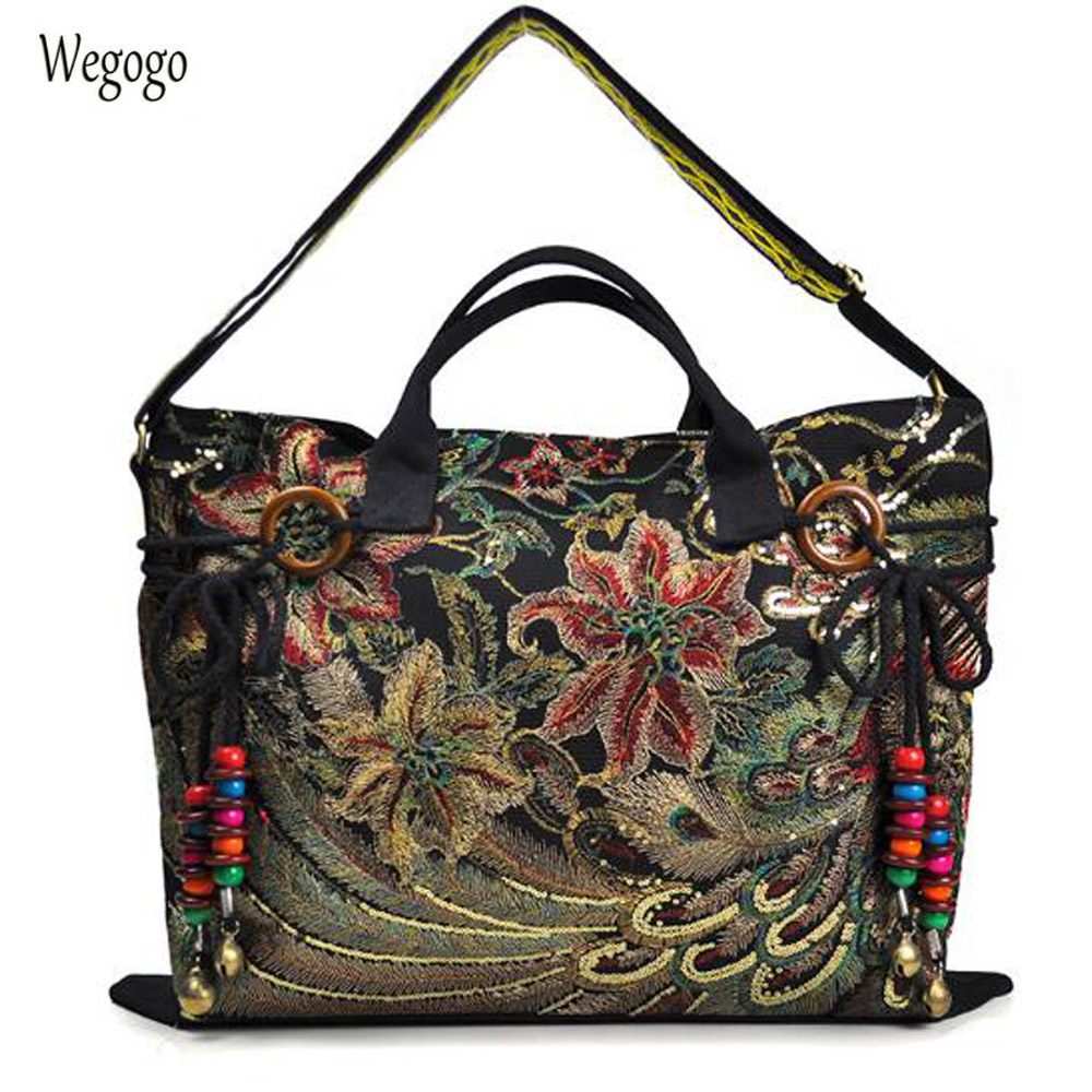 Vintage Embroidery Women Canvas HandBag National Characteristics Single Messenger Bag Fashion Leisure Bag Crossbody Tote Handbag 2018 fashion female shoulder bag canvas women handbag vintage messenger bag crossbody bags leisure tote women bag