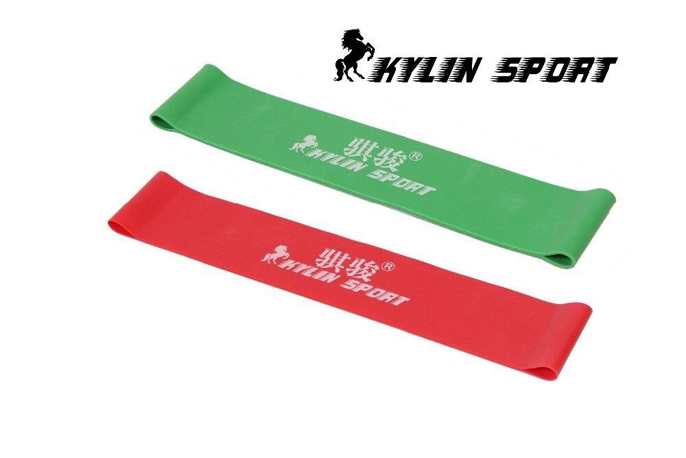 Grüne und rote Kombination Latex Widerstand Bands Workout Übung Pilates Yoga Bands Schleife Handgelenk Knöchel elastischer Gürtel