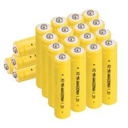 Anmas moc 4/8/12/16/20 sztuk 1.2 V AAA 600 mAh NI-MH akumulator akumulatory NiMH-żółty kolor