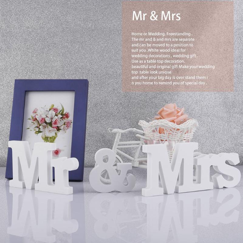 Деревянные буквы Mr & Mrs Рождество Свадебные украшения романтический брак на день рождения Mr & Mrs Свадебная вечеринка знак праздник DIY Аксессу...