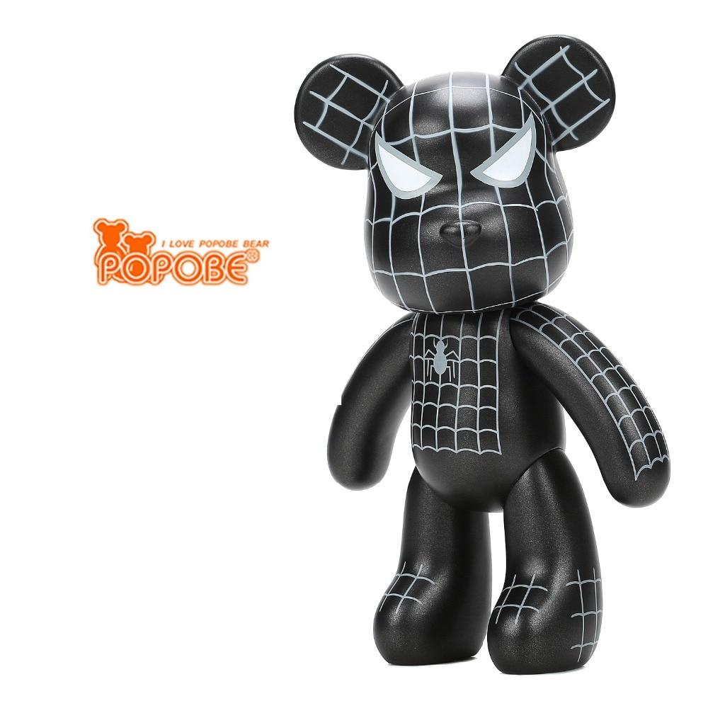 New  Violence Bear Momo  BEARBRICK Gloomy Bear POPOBE  Spiderman Vinyl Toys 10 inch 25cm статуэтка gloomy