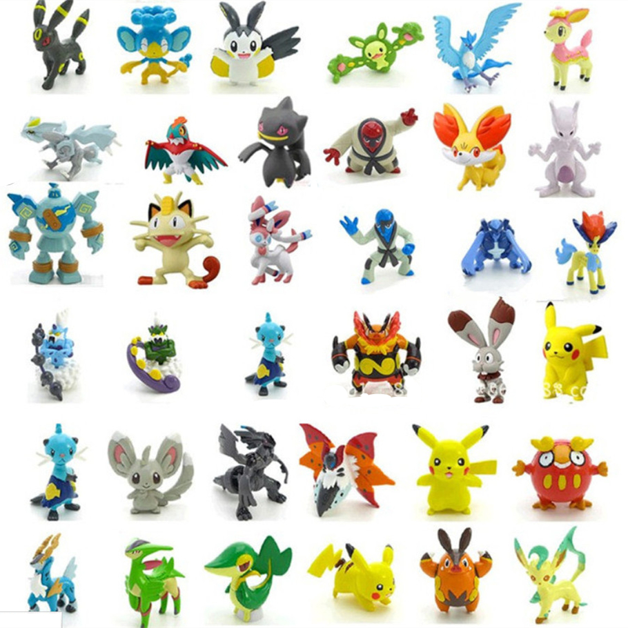 ФОТО 24pcs/set 2-3cm pokeball figures cute mini pikachu figures monster model toys random brinquedos collection anime kids toys #e