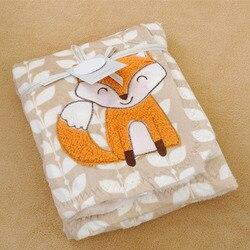 Fashion good quality baby kids blanket cartoon fox striped soft bedding baby nap blanket quilt air.jpg 250x250