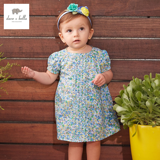 80a3df50dbe51 DB3233 dave bella summer baby girl floral princess dress baby wedding dress  kids birthday clothes dress children costumes-in Dresses from Mother & ...
