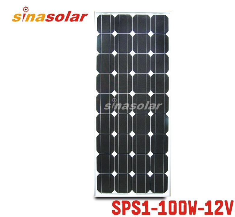 100W 12V Monocrystalline Solar Panel Module