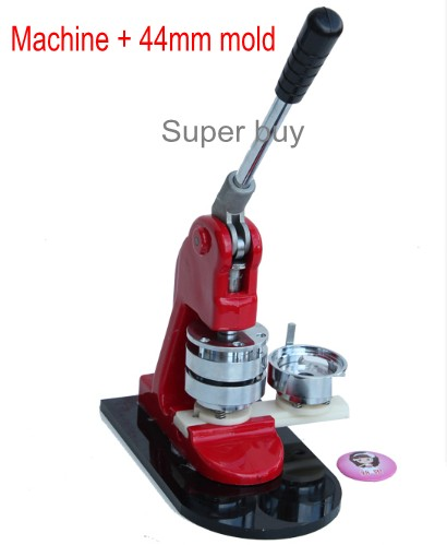 Button maker Badge maker Button making machine NEW+ 44mm Mold one set 2016 new machine manual press badge making machine factory direct sale