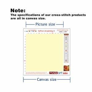 Image 5 - Kits de punto de cruz, juegos de costura bordados con patrón impreso, 11ct lienzo para pintura de decoración del hogar, paisaje completo NCKS034