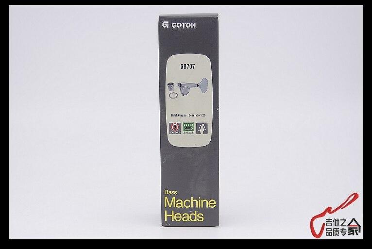 Original authentique 3 + 2 GOTOH GB707 5 cordes électrique basse Machine têtes Tuners (Chrome) fabriqué au japon - 6