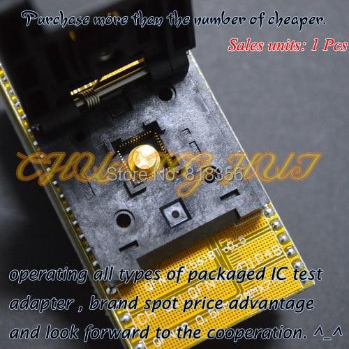 QFN48 to DIP48 Programmer Adapter WSON48 MFL48 DFN48 VDFN48 test socket Pitch=0.5mm Size=7x7mm freeshipping htqfp qfn48 to 0 5 mm dip48 qfn44 qfp48 qfp44 pqfp lqfp adapter plate