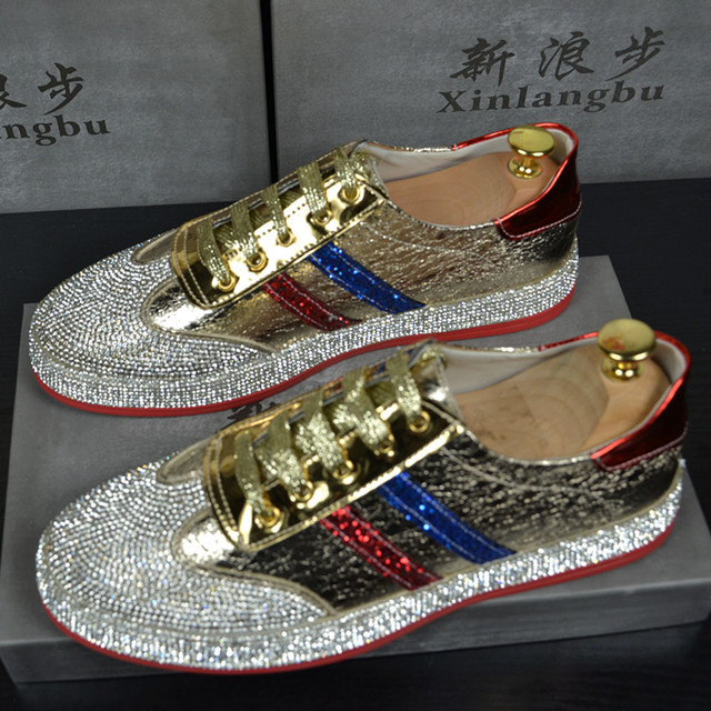 141ed5987987 Men Hip Hop Luxury Brand Trainers shoes Runway Designer Sneakers Patent  Leather red Red bottom Rubber Gold Silver Casual shoe