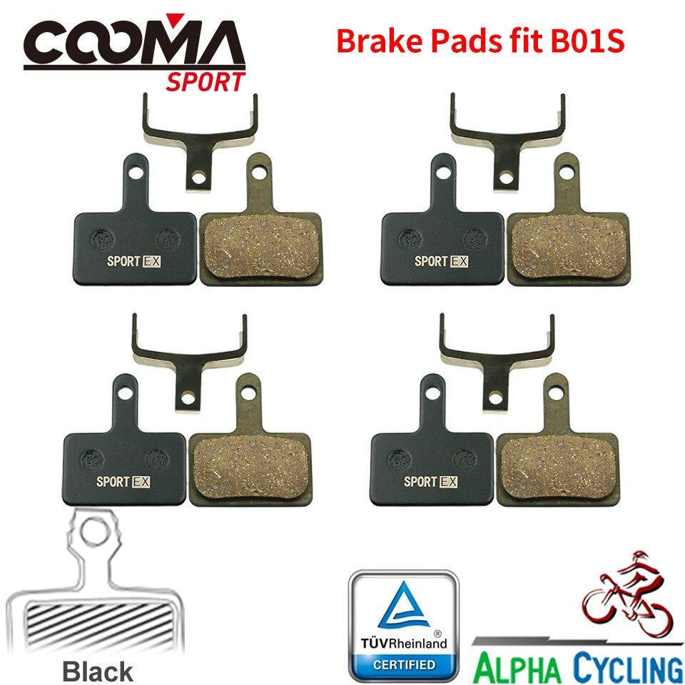 MTB Bicycle Disc Brake Pads For SHIMANO M375 M395 M486 M485 M475 M416 M446 M515 M445 M525 Disc Brake, 4 Pairs/ORD, Black RESIN