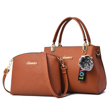 2pcs Leather Bags Handbags Women Famous Brand Shoulder Bag Female Casual Tote Messenger Composite Set Bolsas Feminina