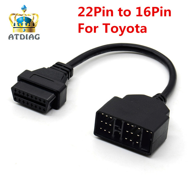 US $3 34 |OBD OBD2 Diagnostic Connector 22 Pin to 16 Pin For Toyota 22PIN  OBDII Cable Adapter Transfer For Toyota 22Pin to OBD2 16Pin-in Car