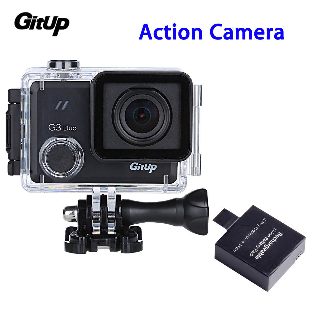 GITUP Git3 G3 Duo 2inch Touch Screen 2K 12MP HD WIFI Action Camera 170degree 24fps Portable With Rechargeable 1200mAh Battery