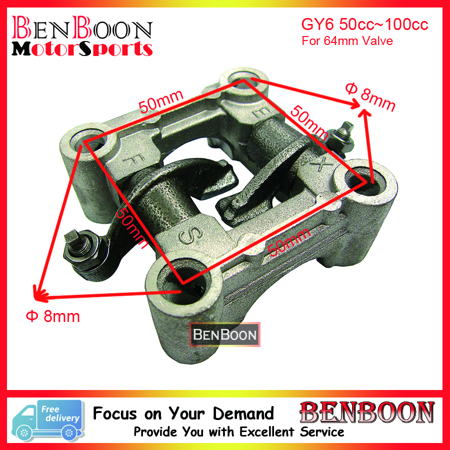 GY6 50cc Engine font b Parts b font Camshaft Holder Rocker Arm Assy 139QMA 139QMB Chinese