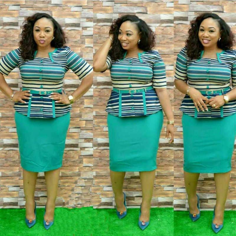 H & D 2019 Африканский одежда Африка топ и юбка комплект Женская одежда наивысшего качества вышивка