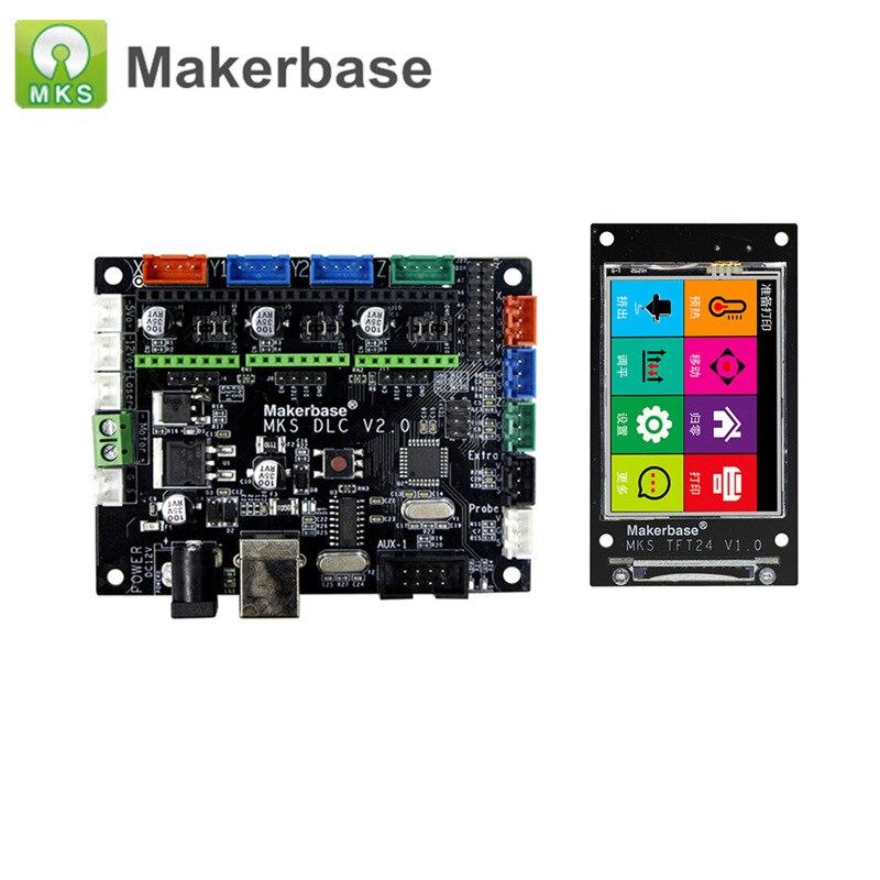 Imprimante 3D pièces hors ligne MKS DLC V2.0 GRBL CNC carte contrôleur de bouclier + MKS TFT24 écran tactile gravure Laser pour bricolage|3D Printer Parts & Accessories| |  -
