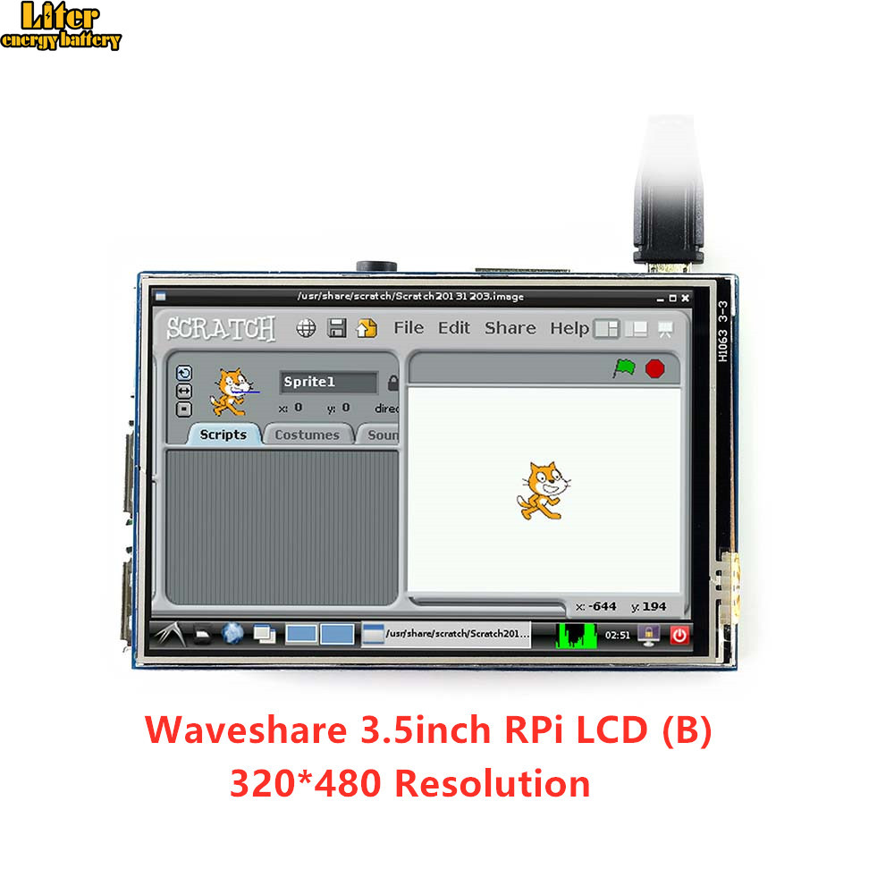 Waveshare 3.5inch RPi LCD (B) 320*480, Touch Screen IPS TFT Display For All Raspberry PI, XPT2046 Touch Screen Controller