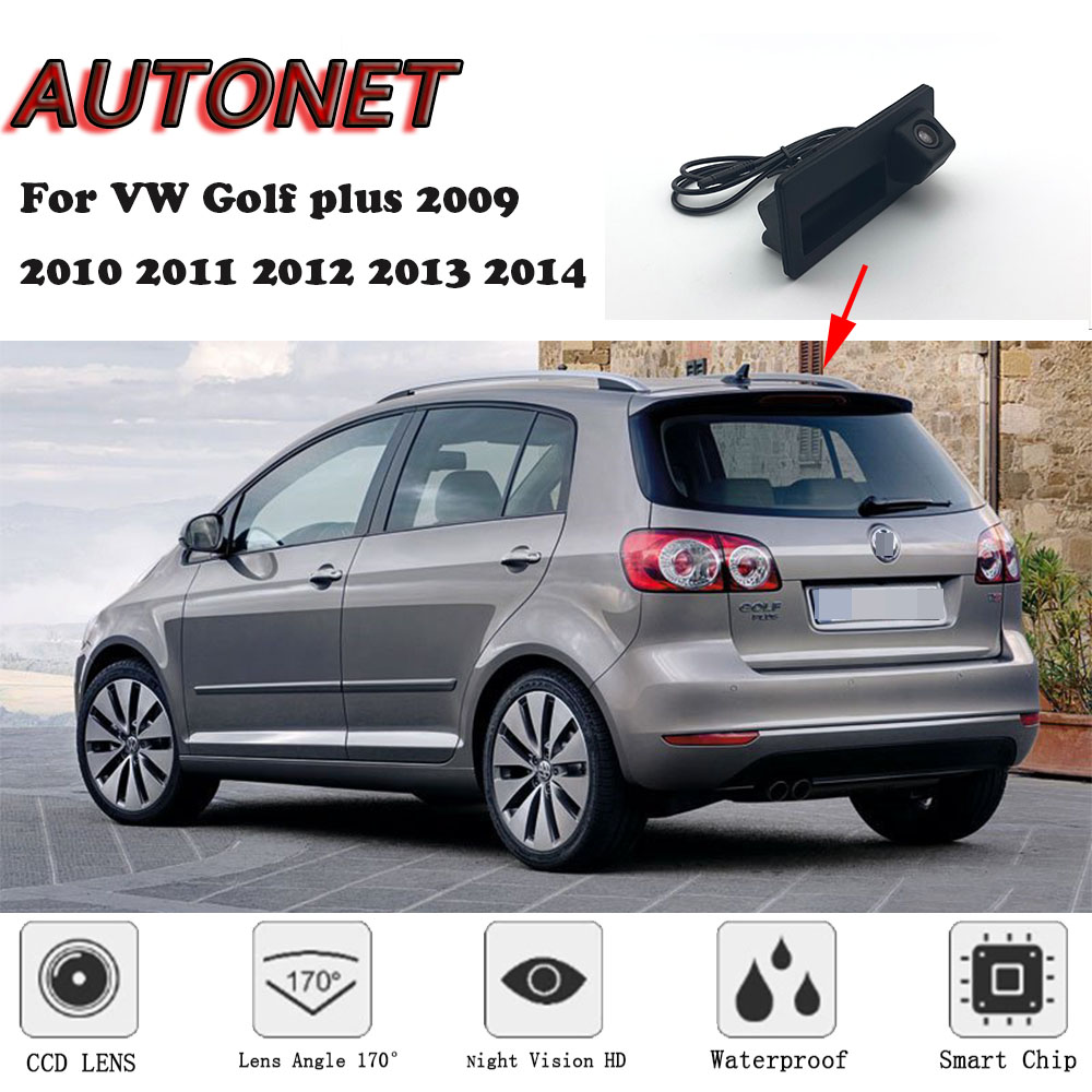 AUTONET CAR Trunk Handle Camera For Volkswagen VW Golf Plus 2009 2010 2011 2012 2013 2014 Night Visioin Backup Rear View Camera