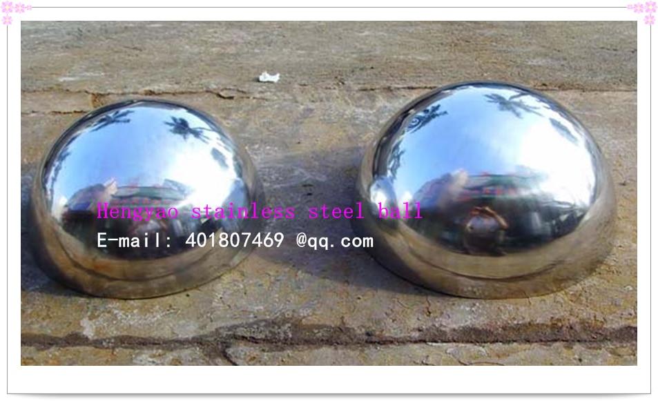 75 mm diametër 201 mm hemisferë e uritur çeliku gjysmë sferë sfond dekorim mur kokë tub çeliku inox
