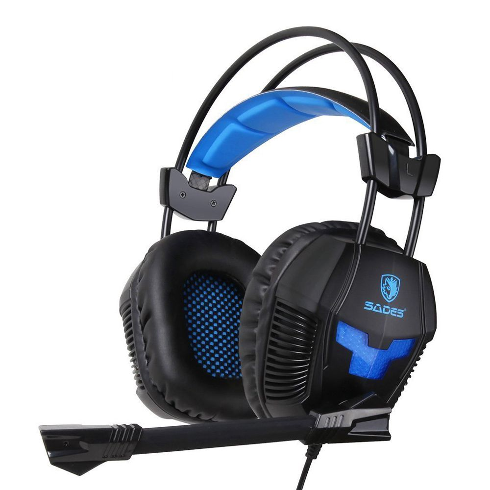 Sades SA-921 Stereo Gaming Headphones for a Mobile Phone PS4/Xbox 360/MAC/PSP/Laptop PC Gamer Headset Gaming Headphone with Mi ...