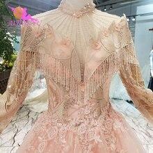 AIJINGYU Puffy Dresses Marriage Satin Ruffle Trim Gowns