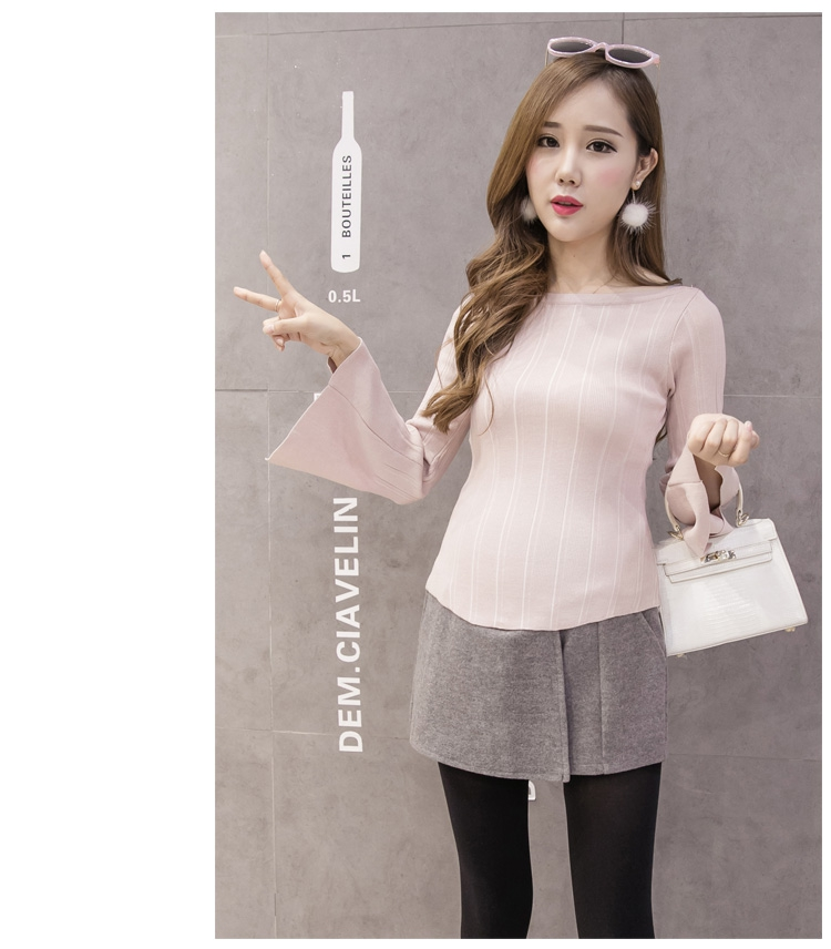 1045# 2019 Autumn Winter Fashion Maternity Shorts Grey Black Woolen Shorts for Pregnant Women Elastic Waist Pregnancy Shorts