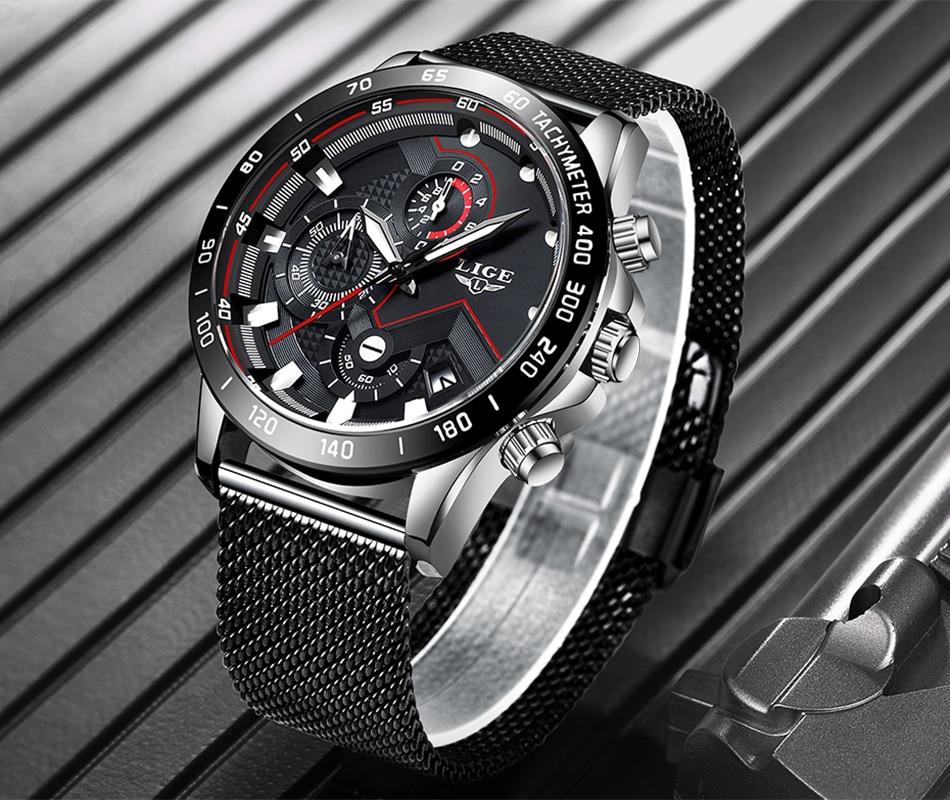 HTB18U3fONnaK1RjSZFBq6AW7VXaI LIGE Fashion Mens Watches Brand Luxury WristWatch Quartz Clock Blue Watch Men Waterproof Sport Chronograph Relogio Masculino