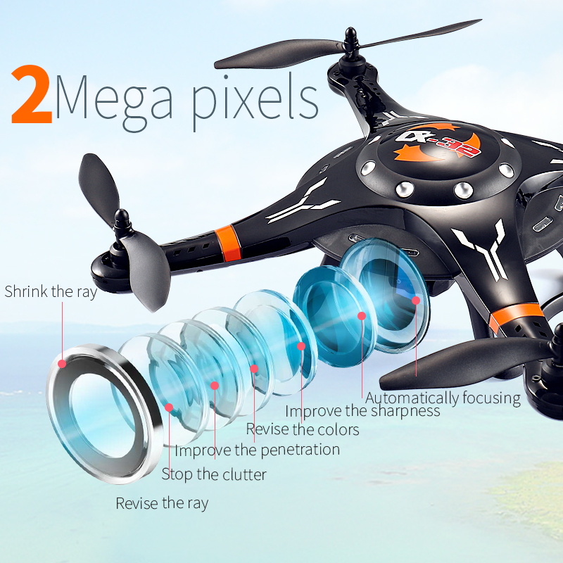 Cheerson  CX-32S Drone With 2MP camera LCD 4CH 6Axis Helicopter with FPV 5.8G Video Real-Time Transmision Hight Hold aircraft cheerson cx 91 cx 91a jumper uav with 2mp camera remote control drone brushless motors fpv real time video high speed rc toys