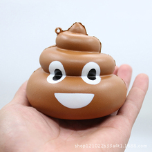 Squishy Crazy Stool Squeeze Poo Slow Rising anti-stress toys Kawaii Kids Toy Keychain Reliever Ball  ice Cream Toys