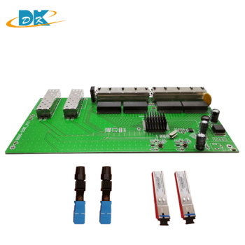 2 Ports SFP + 8 Ports POE RJ45 Reverse switch board, unmanageable along with SFP SC port 5km, 8 Rj45 Interruptor PD Operacional image