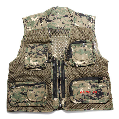 Free shipping,multifunctional Black men's vest,multi pockets vest men,reporter jacket vest,camouflage Military summer