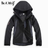 Be A Wolf Hiking Jackets Men Ski Coat Waterproof Winter Windbreaker Outdoor Clothing Softshell Camping Climbing